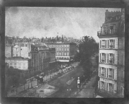 """William Henry Fox Talbot, """"View of the Boulevards at Paris"""" (May1843)"""