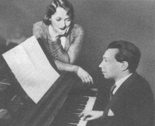 Marlene Dietrich and Friedrich Hollaender (early 1930s (?))