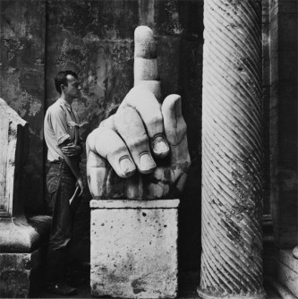 """Robert Rauschenberg, """"Cy (Twombly) + Relics – Rome"""" (1952)"""